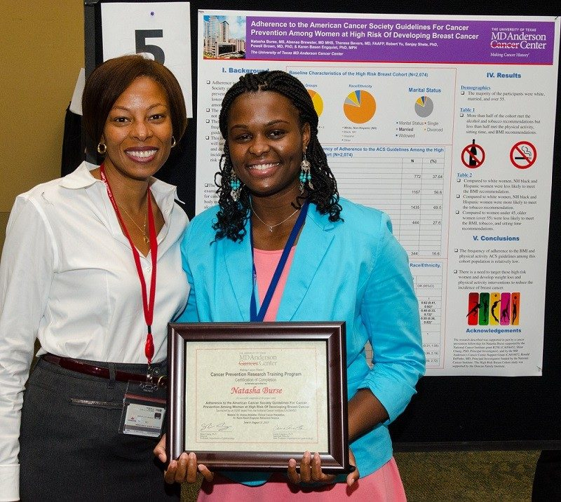 Abenaa Brewster, M.D., (Left) at the CPRTP 2017 Summer Expo